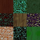 Set of fabric knit generated textures Stock Photography