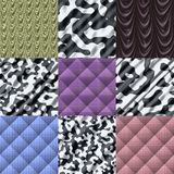 Set of fabric knit generated textures Royalty Free Stock Photos