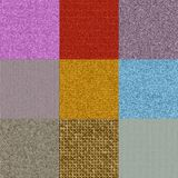 Set of fabric knit generated textures Royalty Free Stock Photography