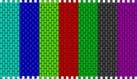 A set of fabric patterns Stock Photo