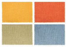Set of fabric swatch samples Royalty Free Stock Photography