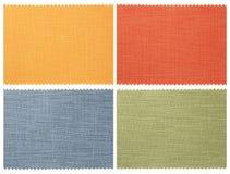 Set of fabric swatch samples Stock Photos