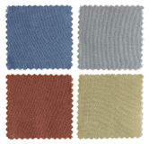 Set of fabric swatch samples Royalty Free Stock Photo