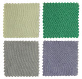 Set of fabric swatch samples Stock Photo