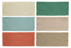 Set of fabric swatch samples Stock Image