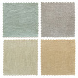 Set of fabric swatch samples. Texture stock image