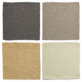 Set of fabric swatch samples texture. Or backgrounds stock photo