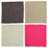 Set of fabric swatch samples texture Stock Image