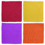 Set of fabric swatch samples texture. Or backgrounds royalty free stock photos