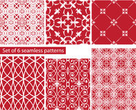 Set of fabric textures with different lattices - s Stock Photos