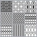 Set of fabric textures with different lattices - seamless patter. Ns abstract Royalty Free Stock Photo