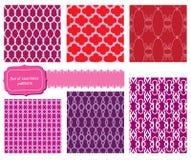 Set of fabric textures - seamless pattern Stock Photo