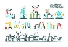 Set fabryczna ilustracyjna produkcja Zdjęcia Stock