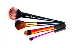Face brushes highlight makeup royalty free stock photos