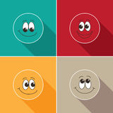 Set of face icons Stock Images