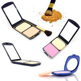 Set face powder Stock Images