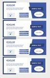 Set facebook linii czasu błękita pokrywy Obrazy Royalty Free
