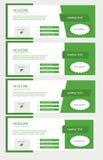 Set facebook linii czasu zieleni pokrywy Obrazy Stock