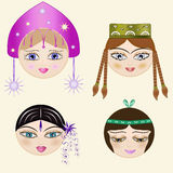 Set_faces Image libre de droits
