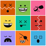 Set faces and characters icons Royalty Free Stock Photo