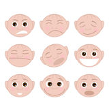 Set Faces Emotions Royalty Free Stock Image