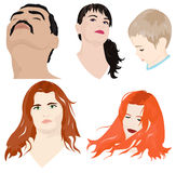 Set of faces Royalty Free Stock Image