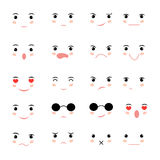 Set of faces with various emotion Stock Image