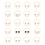 Set of faces Stock Photography