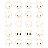 Set of faces with various Royalty Free Stock Image