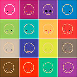 Set of faces with various Royalty Free Stock Photo