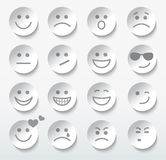 Set of faces with various emotion expressions. Royalty Free Stock Photography
