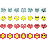 Set of faces with various emotions Royalty Free Stock Photography