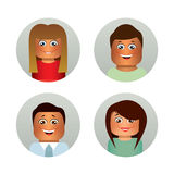 Set of faces. Royalty Free Stock Images