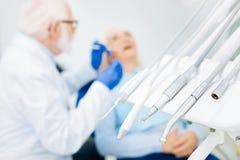 Set fachowi stomatologiczni instrumenty Zdjęcia Royalty Free