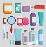 Set of facial creams products. Vector illustration design vector illustration