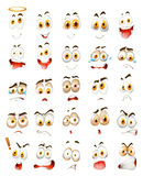 Set of facial emotions Royalty Free Stock Photos