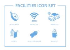 Set of facilities icon. vector illustration
