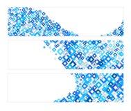 Set Fahnen mit blauer Diamant-Beschaffenheit Lizenzfreie Stockfotografie