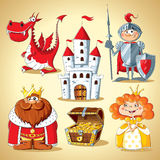 Set of fairy-tale characters royalty free stock photos