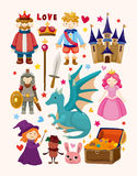 Set of fairy tale element icons Royalty Free Stock Photography