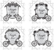 Set fairytale carriage Stock Image