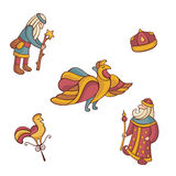 Set of fairytale characters Stock Photos