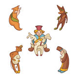 Set of fairytale characters Stock Photo