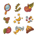 Set of fairytale things Stock Image