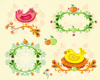 Set of Fall design elements. Royalty Free Stock Photography