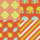 Set of Fall inspired Patterns Stock Photos