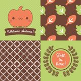 Set of Fall inspired Patterns and posters. Stock Photography
