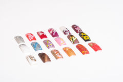 A set of false nails. A variety of artificial nails. Manicure Royalty Free Stock Photography