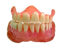 Set of false teeth Stock Photos