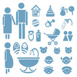 Set of family icons for design Stock Photos